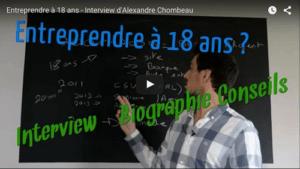 Comment entreprendre à 18 ans - Témoignage d'Alexandre Chombeau de l'agence CSV