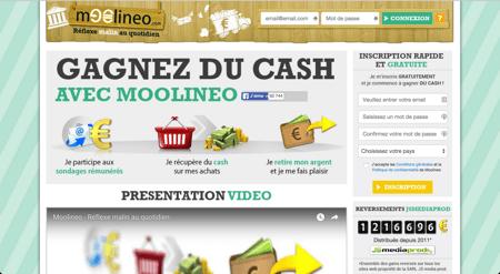 Bon plan, gagnez de l'argent facilement avec le site moolineo.com