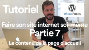 Tutoriel Comment faire son site internet soi-meme ? Partie 7