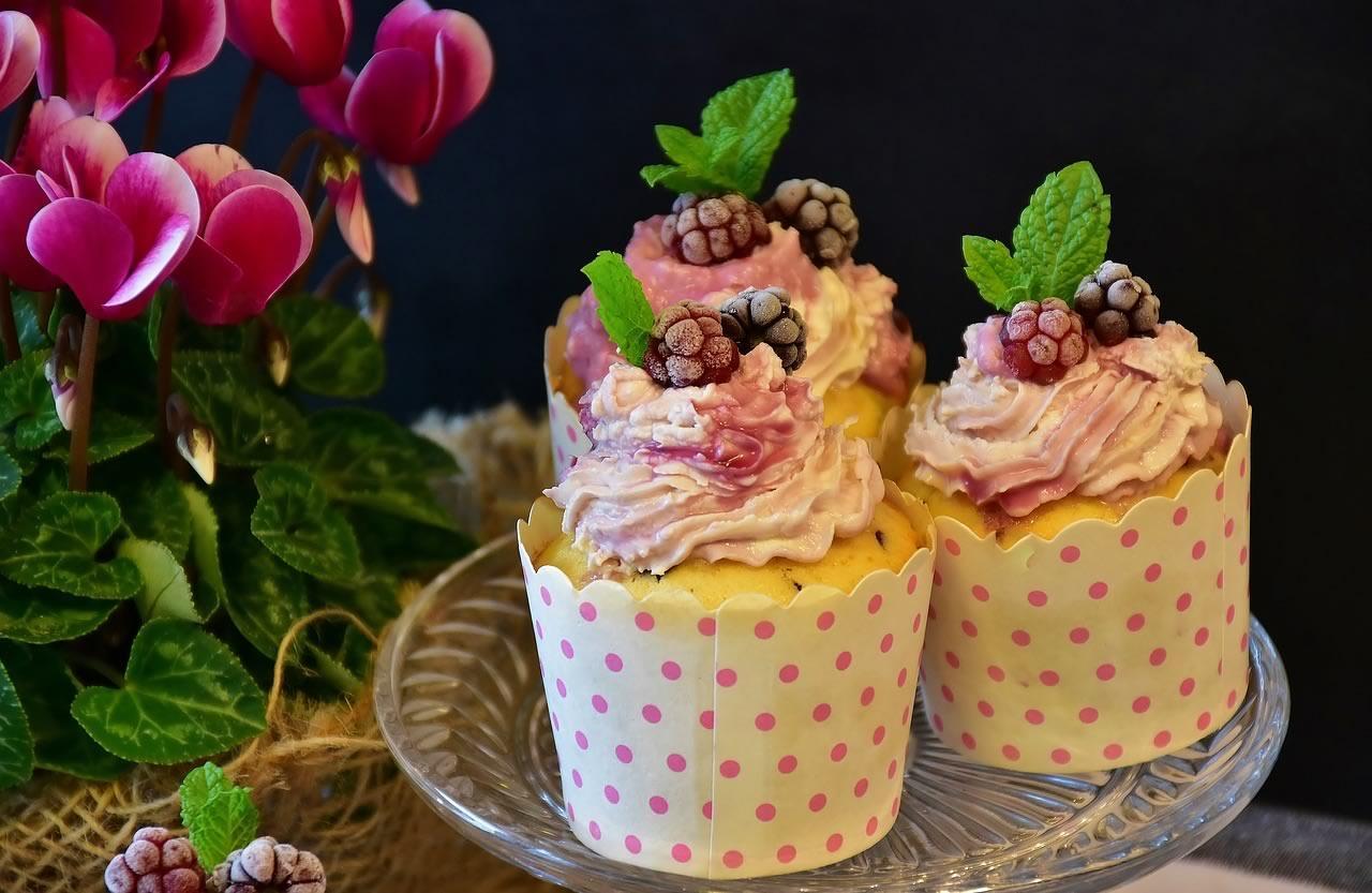 trois bons petits muffins