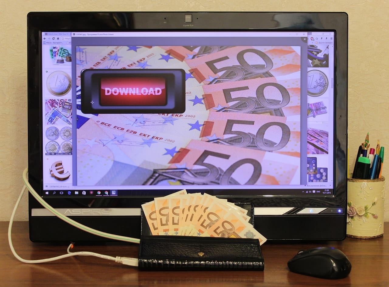 solution à mes dettes argent moniteur écran euro