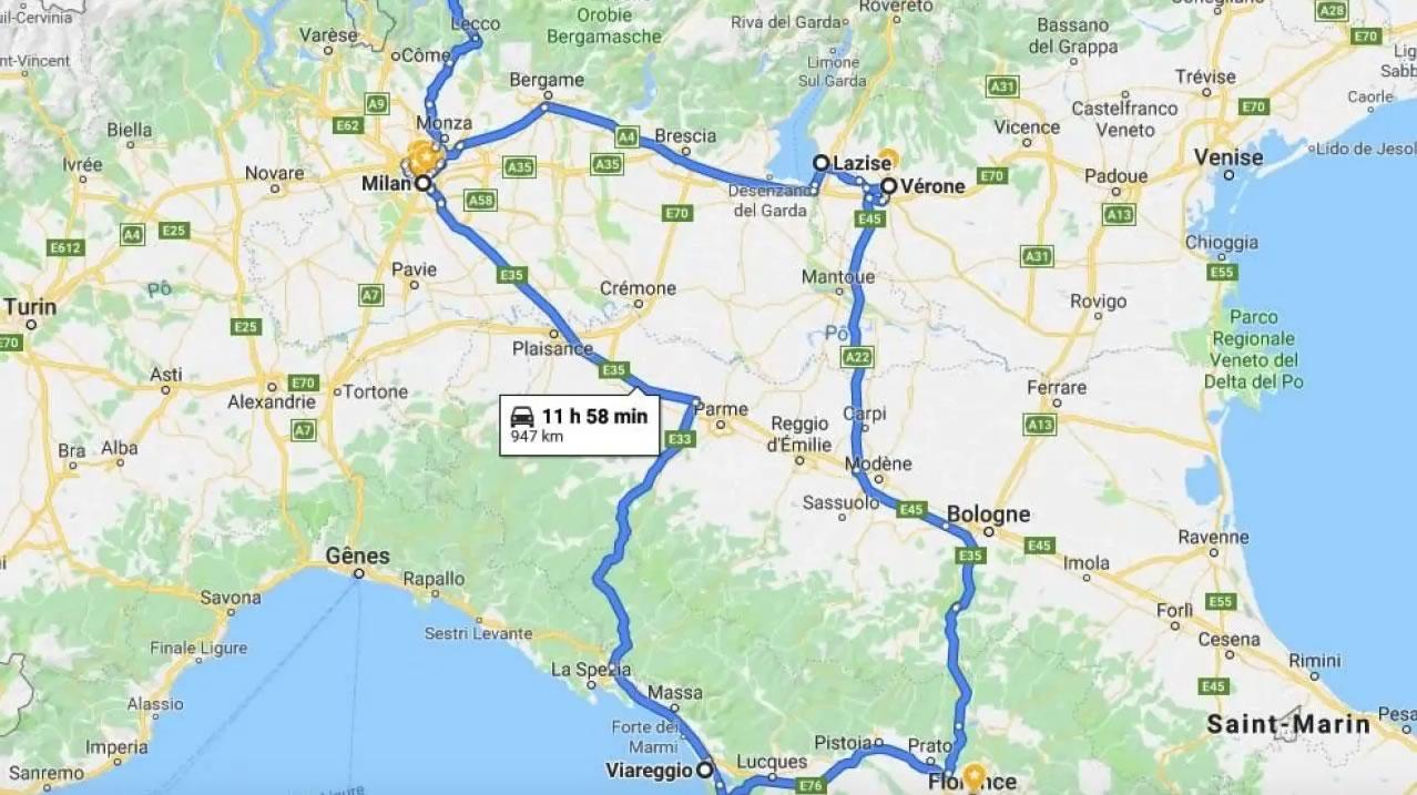 Vécu : road-trip familial de 7 jours en Italie tout en travaillant