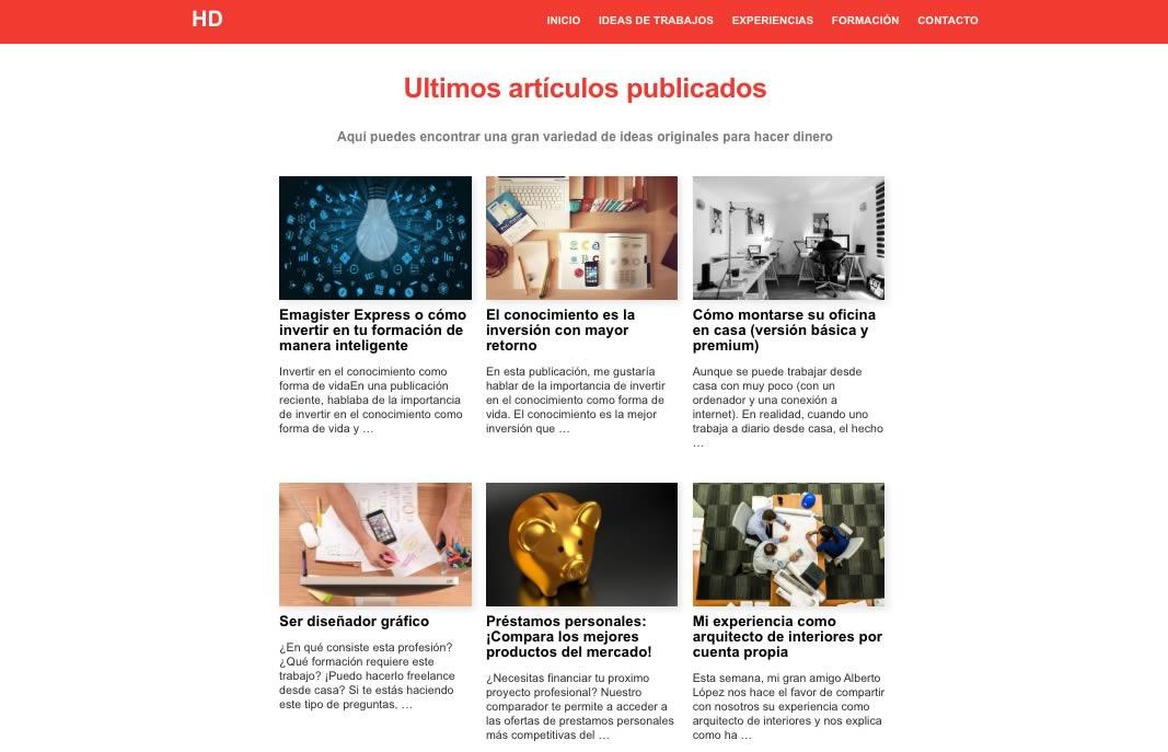 hacerdineros : la version espagnole du site